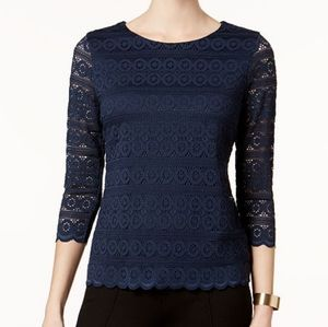 NWT (PM) Charter Club Lace Top